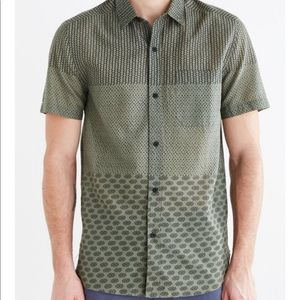 Urban Outfitters Koto Pattern Blocked Button Down